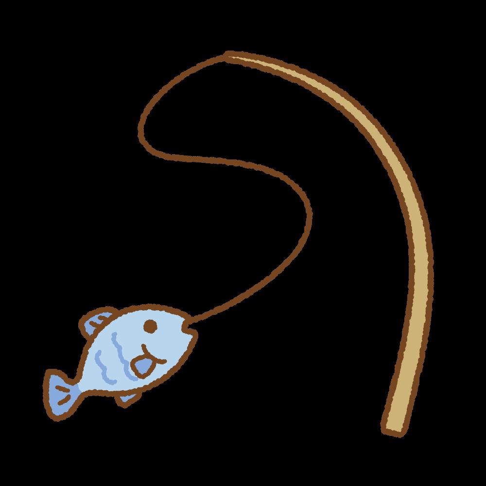 釣りのフリーイラスト Clip art of fishing