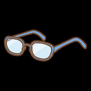 メガネのフリーイラスト Clip art of glasses