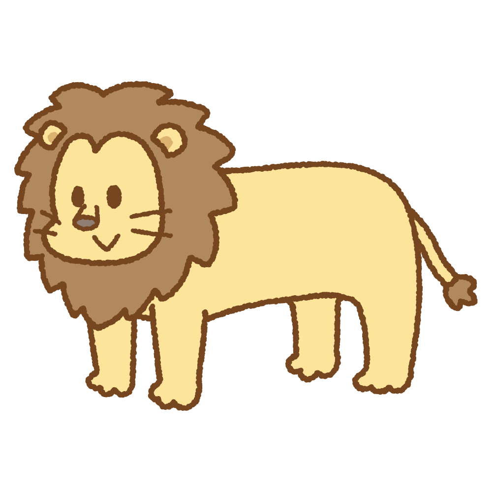 ライオンのフリーイラスト Clip art of lion