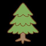 モミの木のイラスト