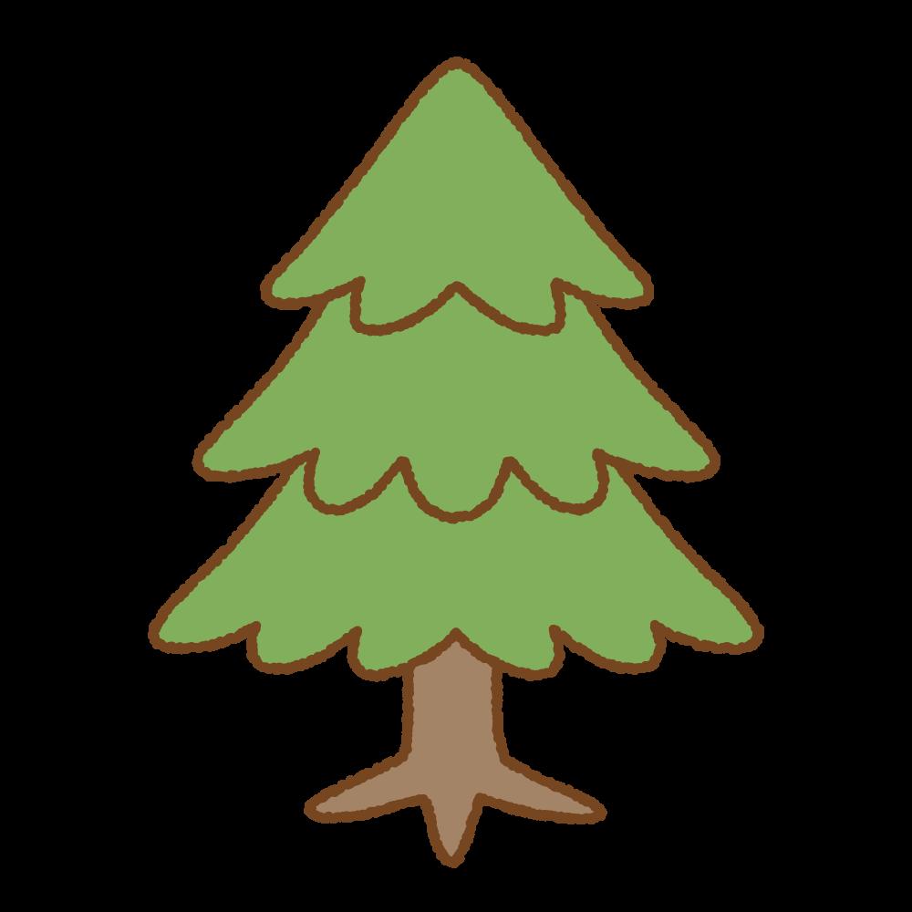モミの木のフリーイラスト Clip art of christmas-tree