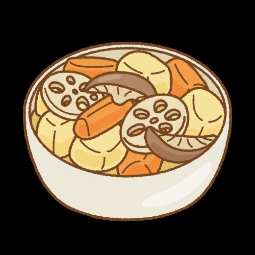 根菜の煮物のイラスト