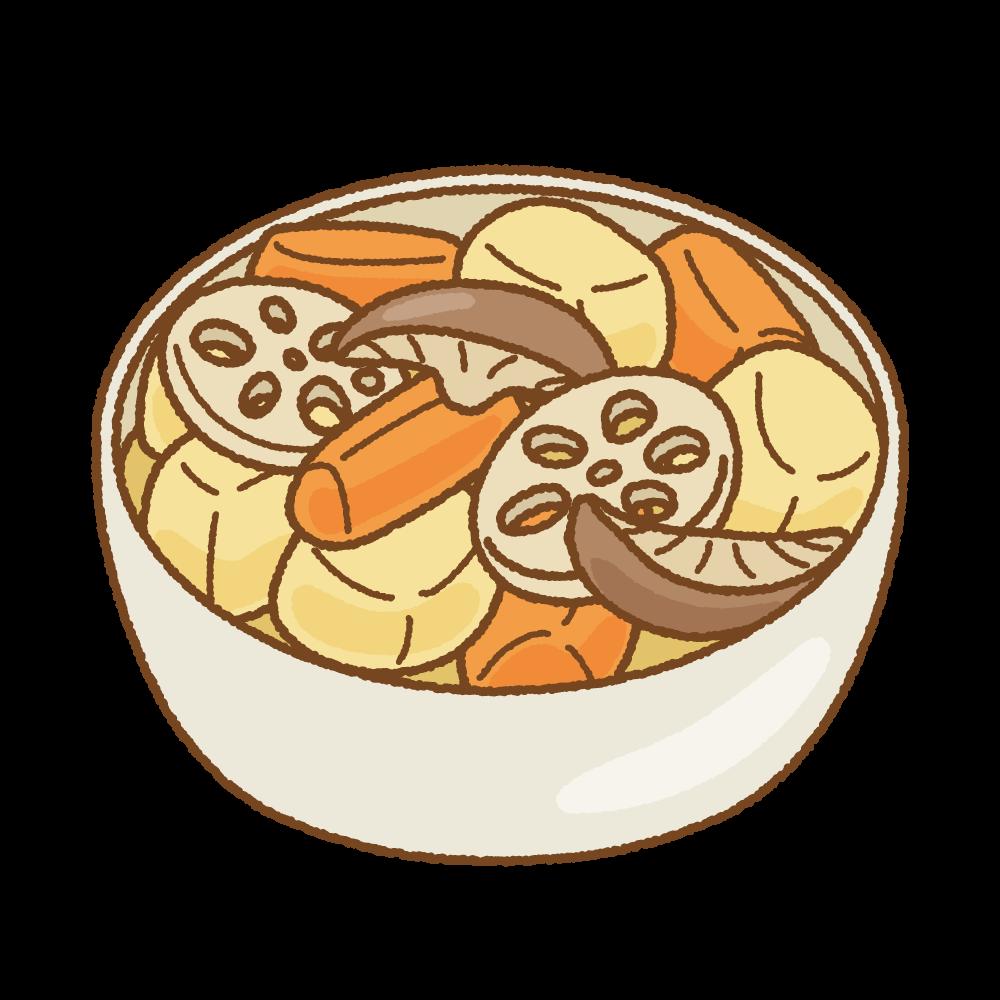 煮物のフリーイラスト Clip art of nimono