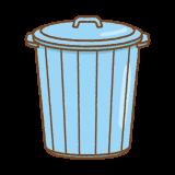 ポリバケツのフリーイラスト Clip art of plastic pail