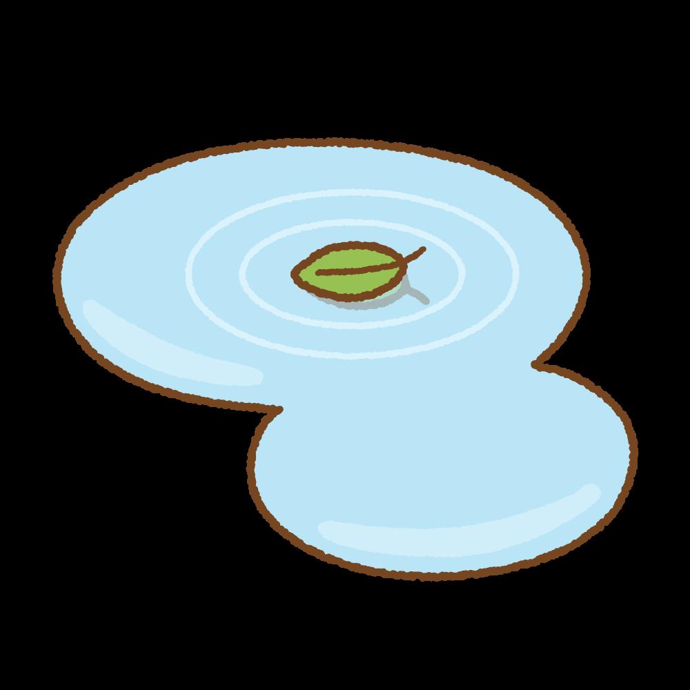 水たまりのフリーイラスト Clip art of puddle
