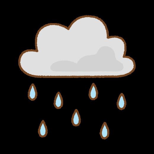 雨雲のイラスト