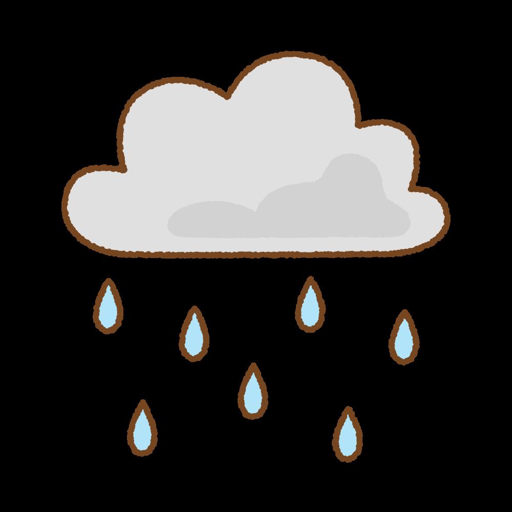 雨雲のフリーイラスト Clip art of rain-cloud