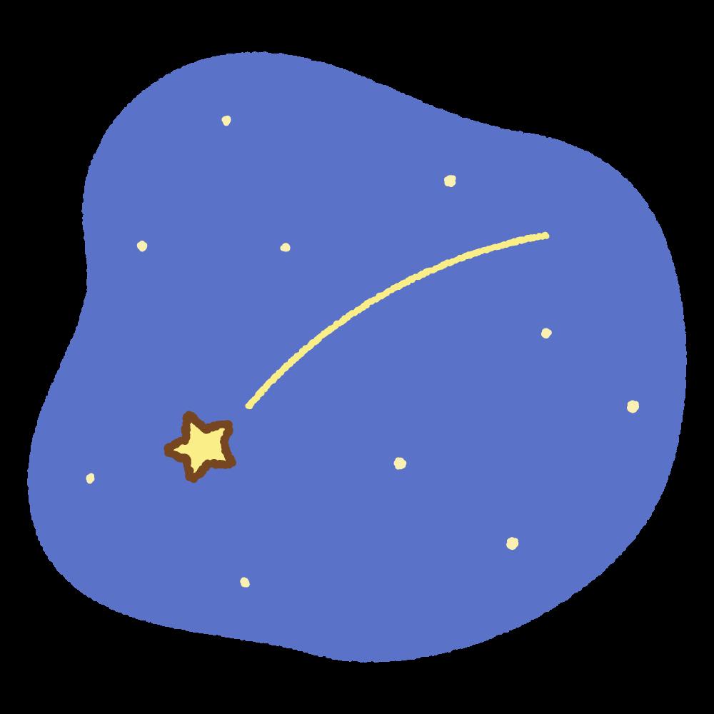 流れ星のフリーイラスト Clip art of shooting-star