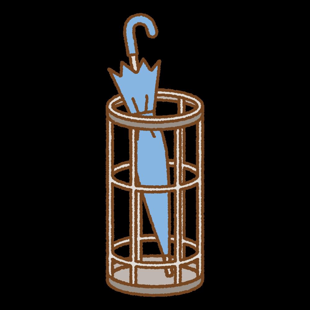 傘立てのフリーイラスト Clip art of umbrella-stand