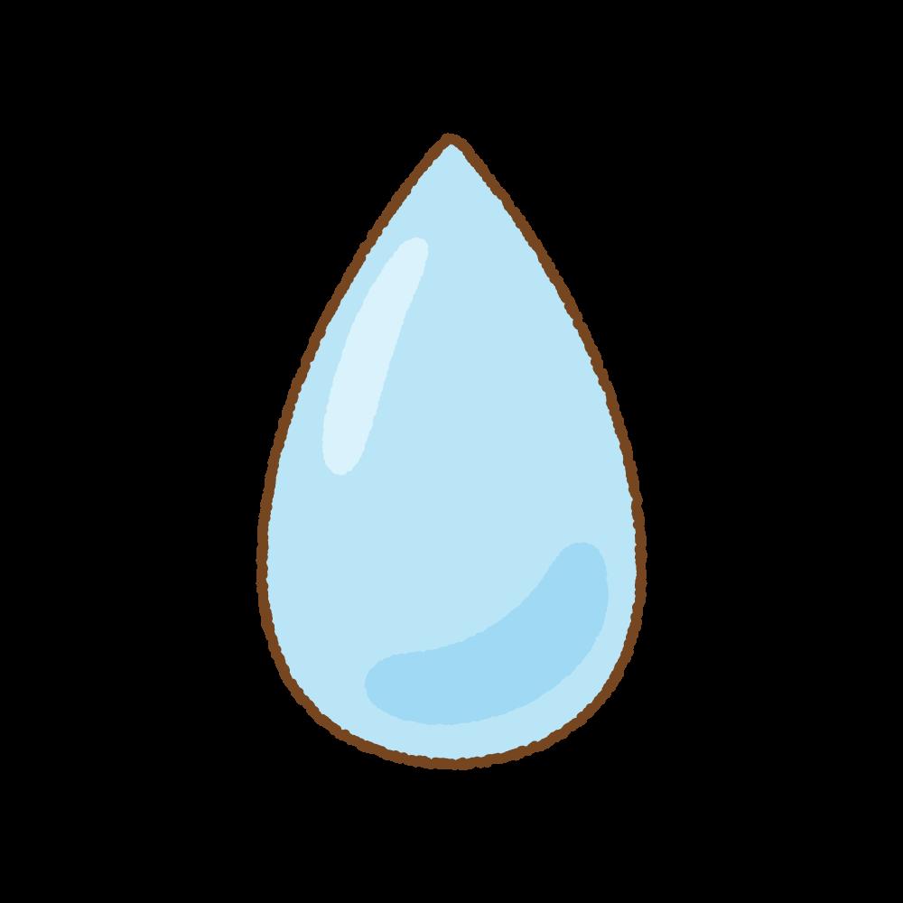 水滴のフリーイラスト Clip art of water-drop