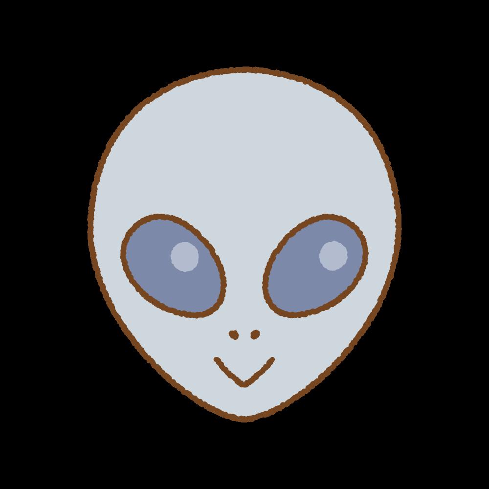 宇宙人グレイのフリーイラスト Clip art of alien-grey