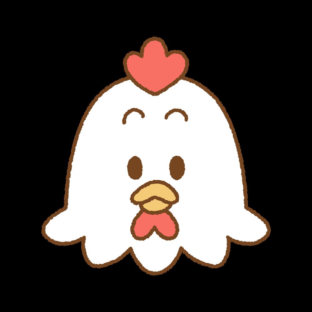 ニワトリの顔のフリーイラスト Clip art of chicken-face