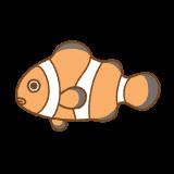カクレクマノミのフリーイラスト Clip art of clownfish