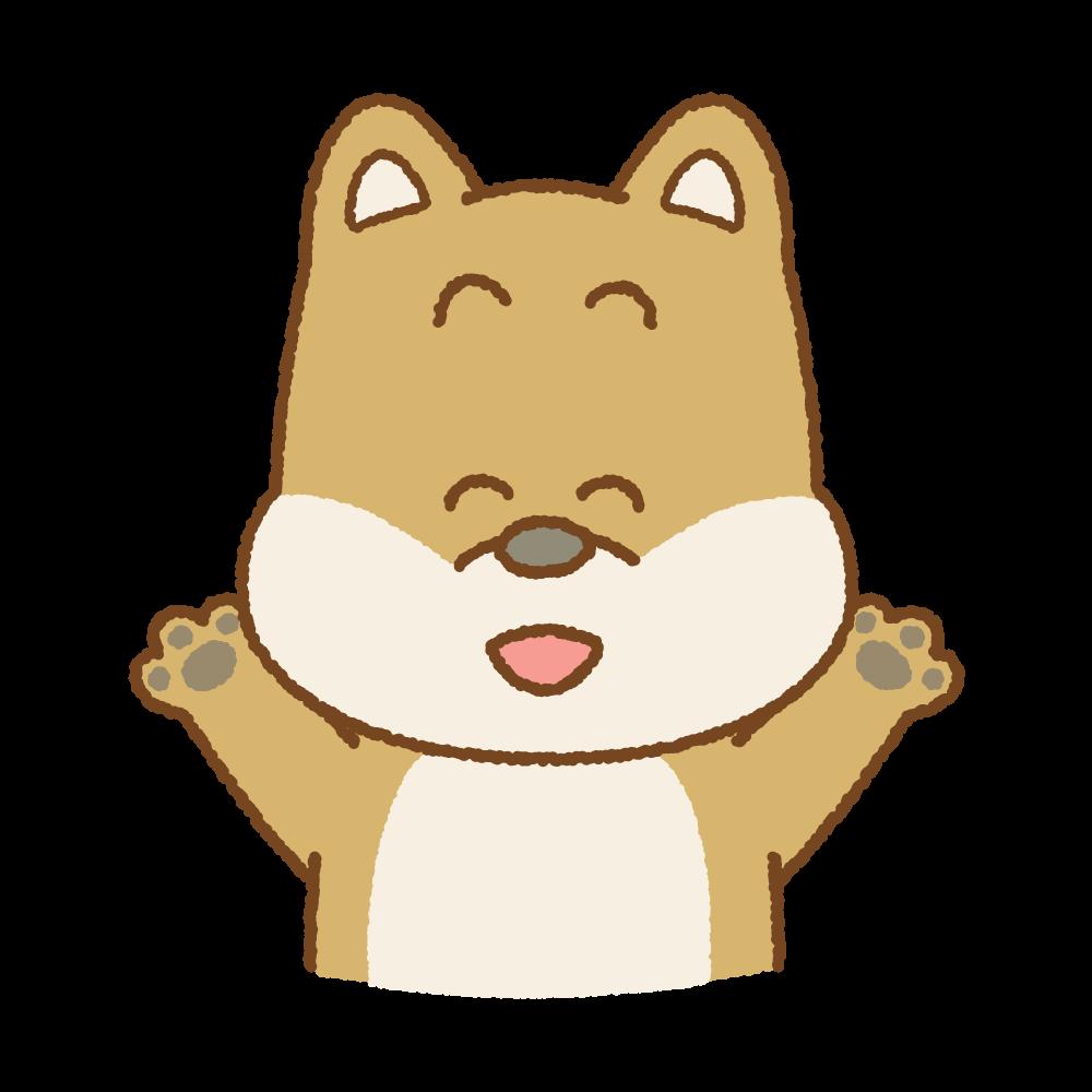 喜ぶイヌのフリーイラスト Clip art of dog-glad