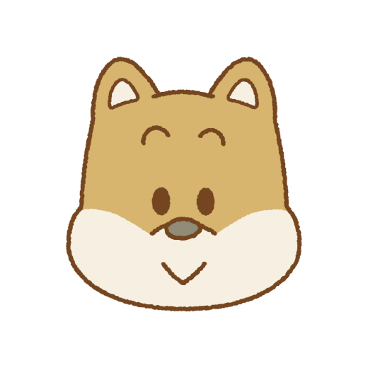 イヌの顔のイラスト