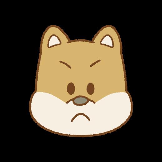 怒るイヌの顔のイラスト