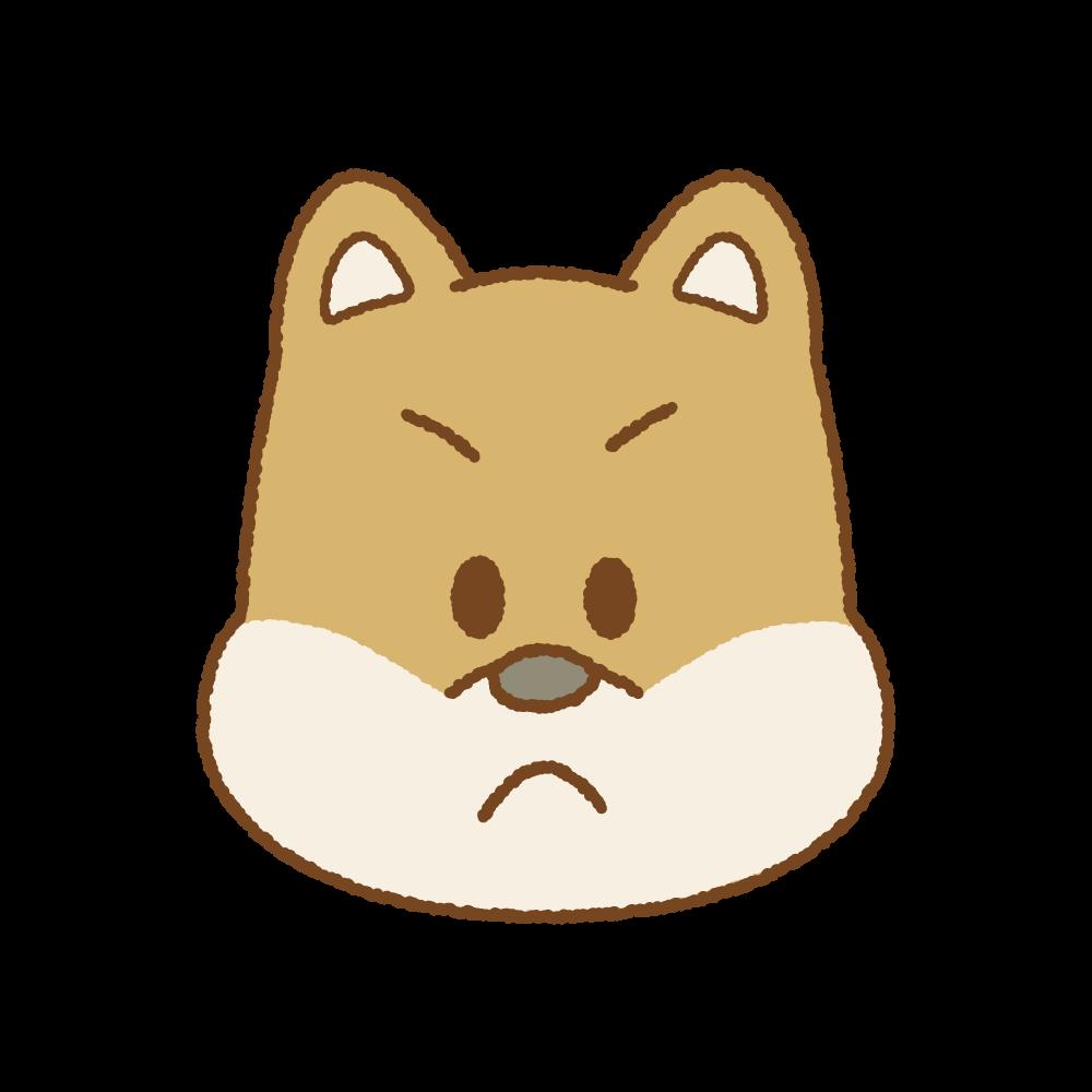 イヌの顔のフリーイラスト Clip art of dog face