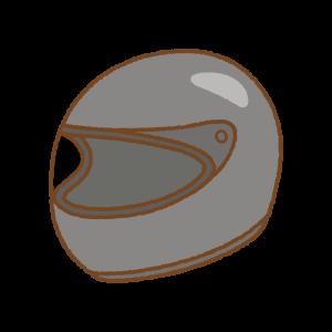 フルフェイスヘルメットのフリーイラスト Clip art of full-face-helmet