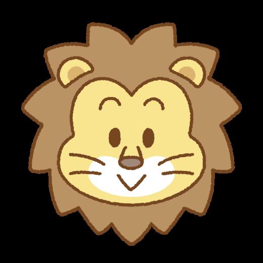 ライオンの顔のイラスト