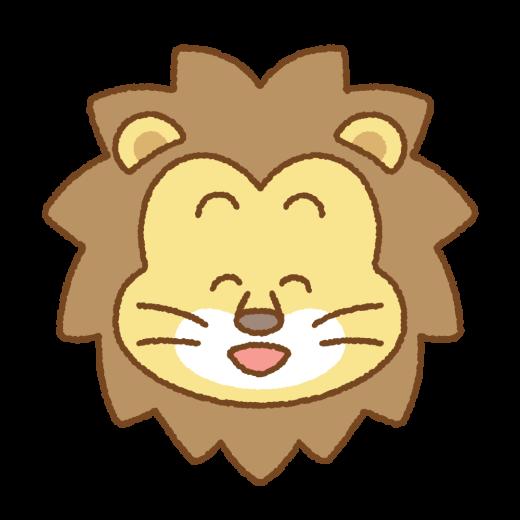 笑うライオンの顔のイラスト