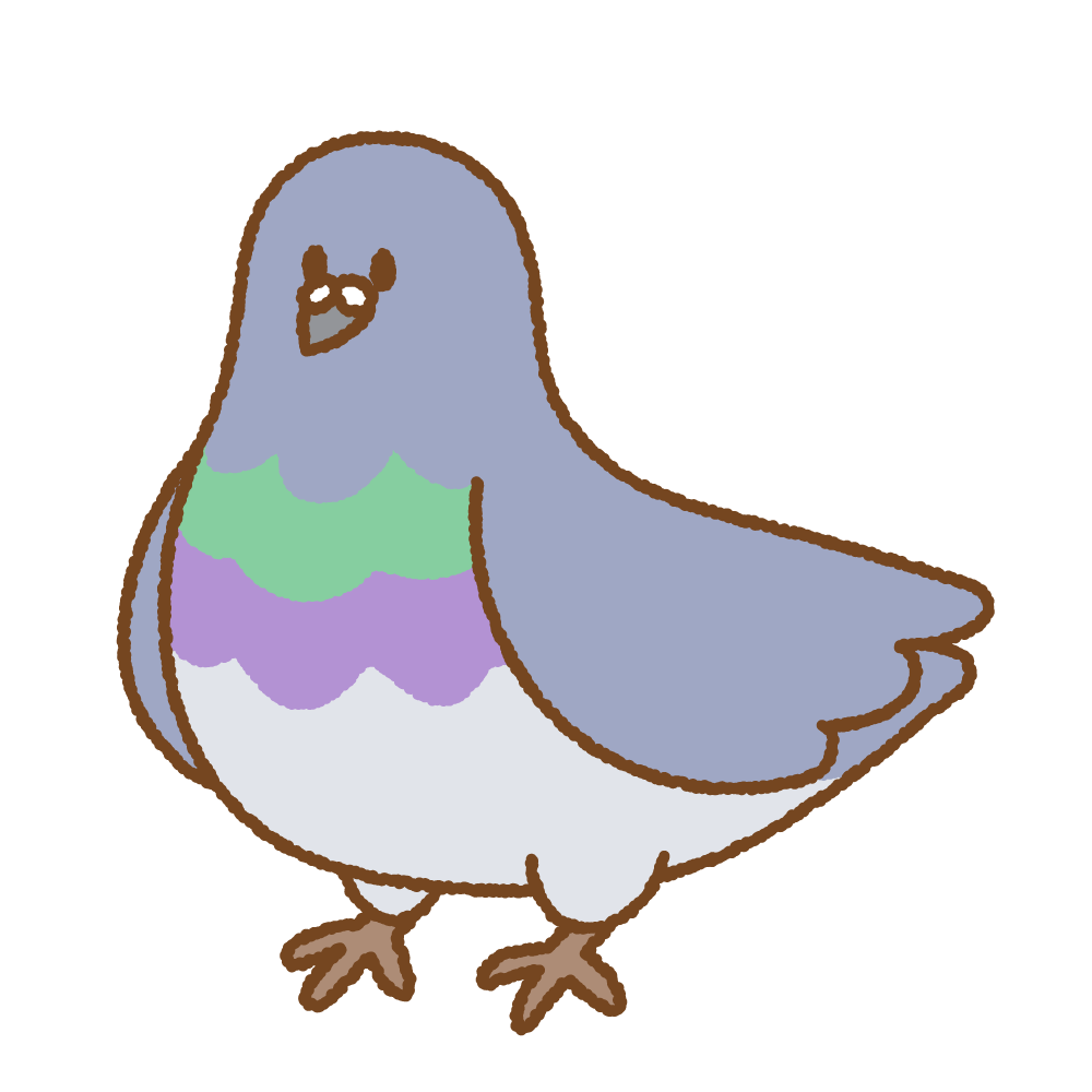 ハトのフリーイラスト Clip art of pigeon