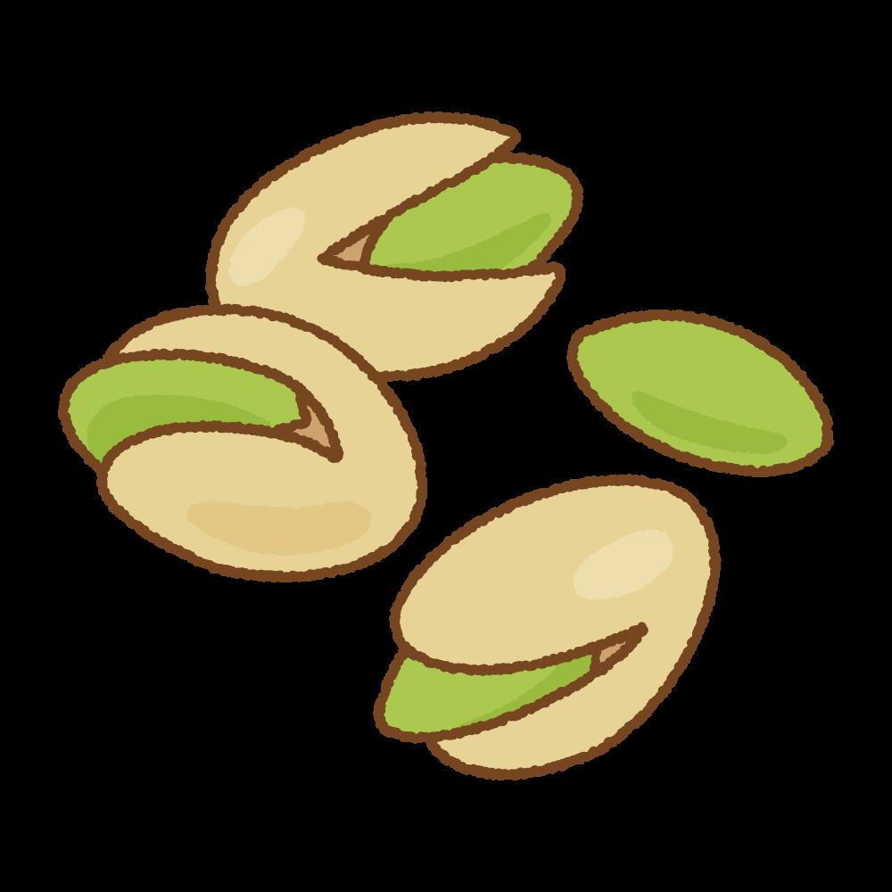 ピスタチオのフリーイラスト Clip art of pistachio