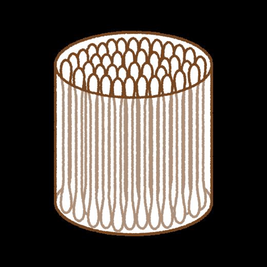綿棒のイラスト