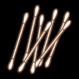 綿棒のフリーイラスト Clip art of cotton-swab