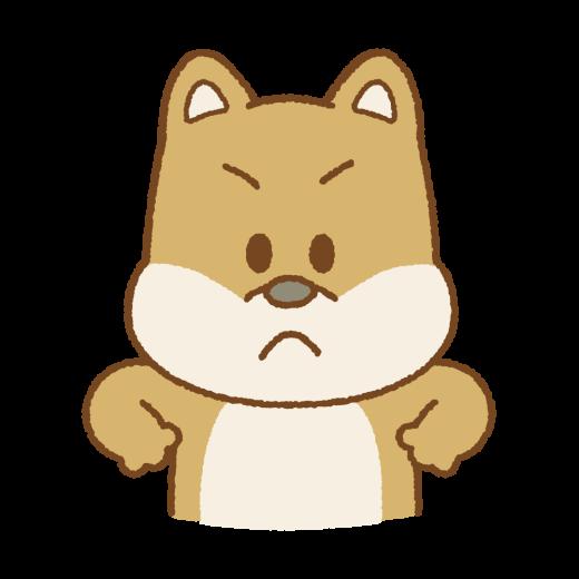 怒るイヌのイラスト