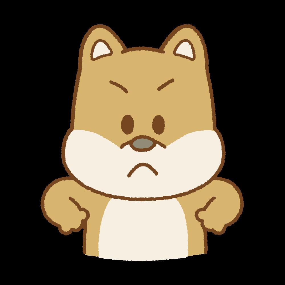 怒るイヌのフリーイラスト Clip art of angry-dog
