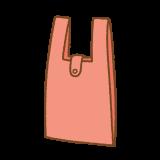 エコバッグのフリーイラスト Clip art of eco-bag