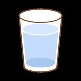 コップに入れた水のイラスト