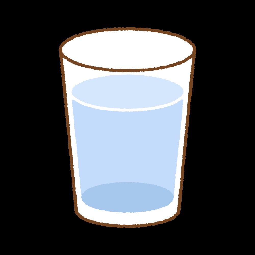 水のフリーイラスト Clip art of glass of  water