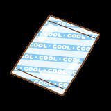 保冷剤のフリーイラスト Clip art of ice-pack