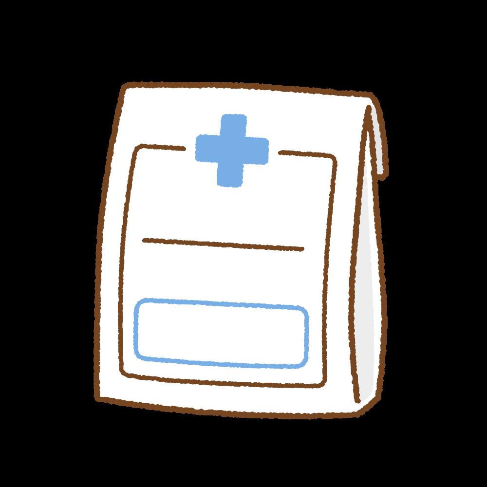 お薬袋のフリーイラスト Clip art of medicine-bag
