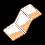 粉薬のフリーイラスト Clip art of medicine-powder