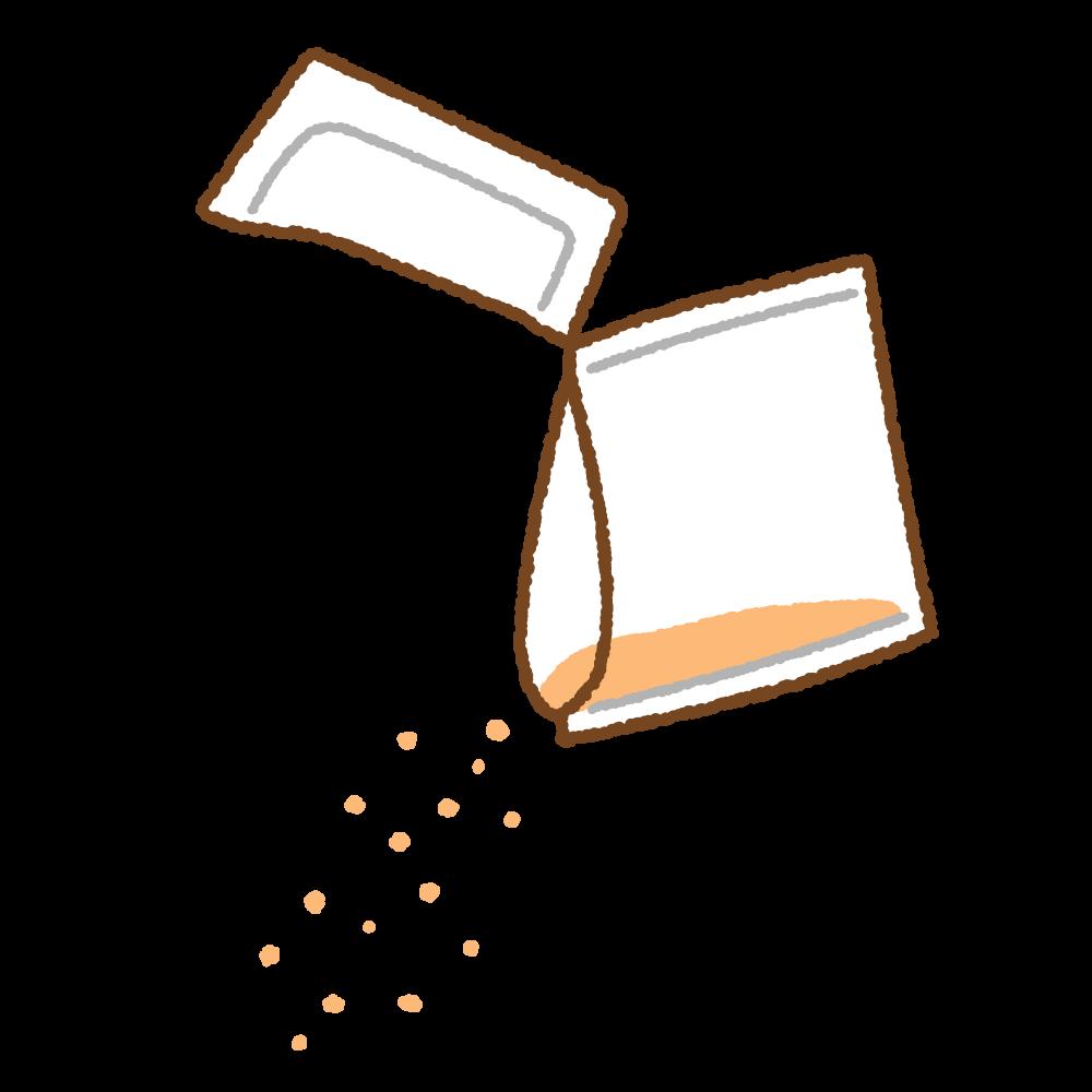 粉薬のフリーイラスト Clip art of powder-medicine