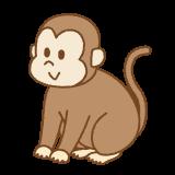 サルのフリーイラスト Clip art of monkey