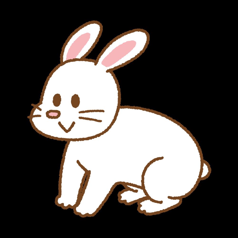 ウサギのフリーイラスト Clip art of rabbit