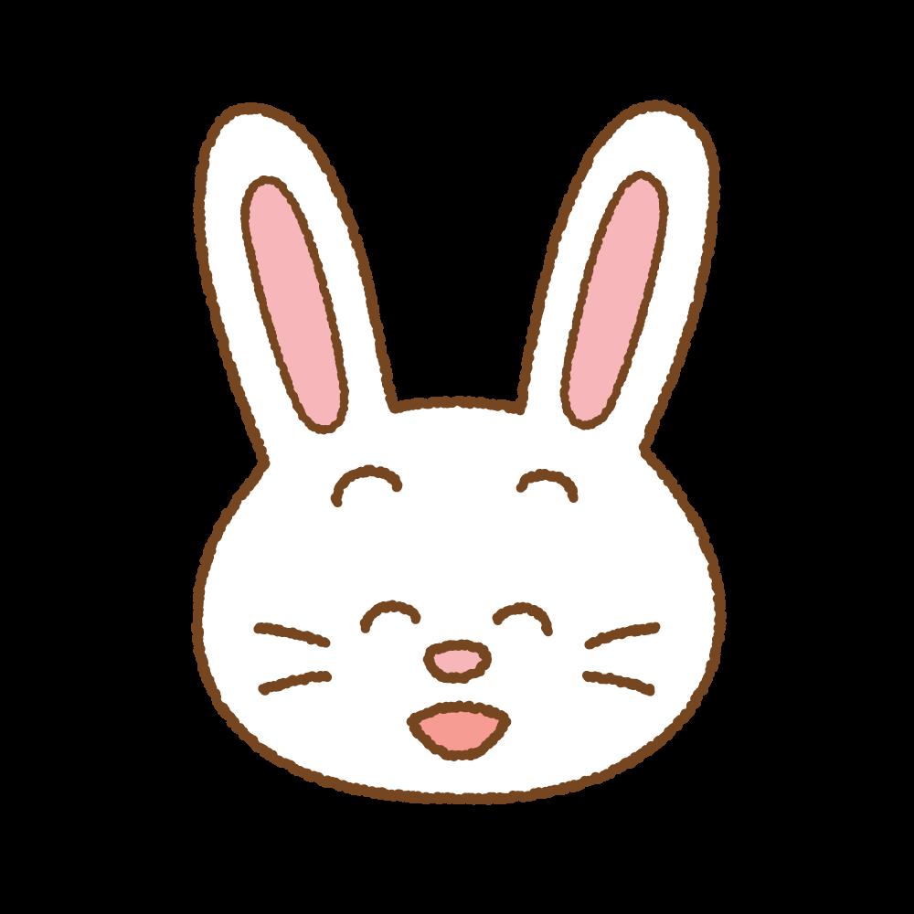 ウサギの顔のフリーイラスト Clip art of rabbit-face