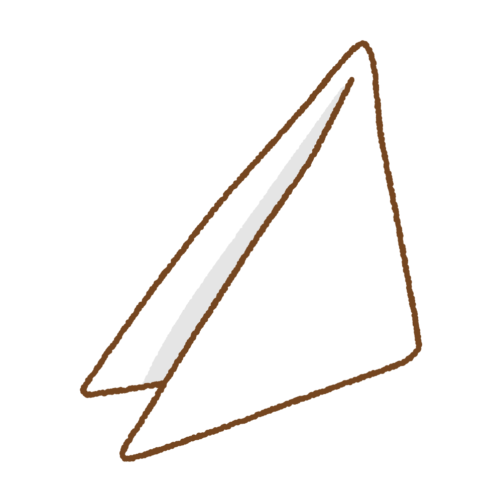 三角巾のフリーイラスト Clip art of triangular bandage