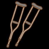 松葉杖のフリーイラスト Clip art of crutch