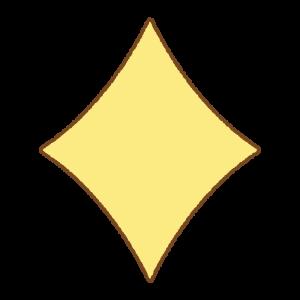 ダイヤマークのフリーイラスト Clip art of diamond-mark