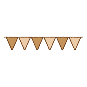 ガーランドのフリーイラスト Clip art of garland