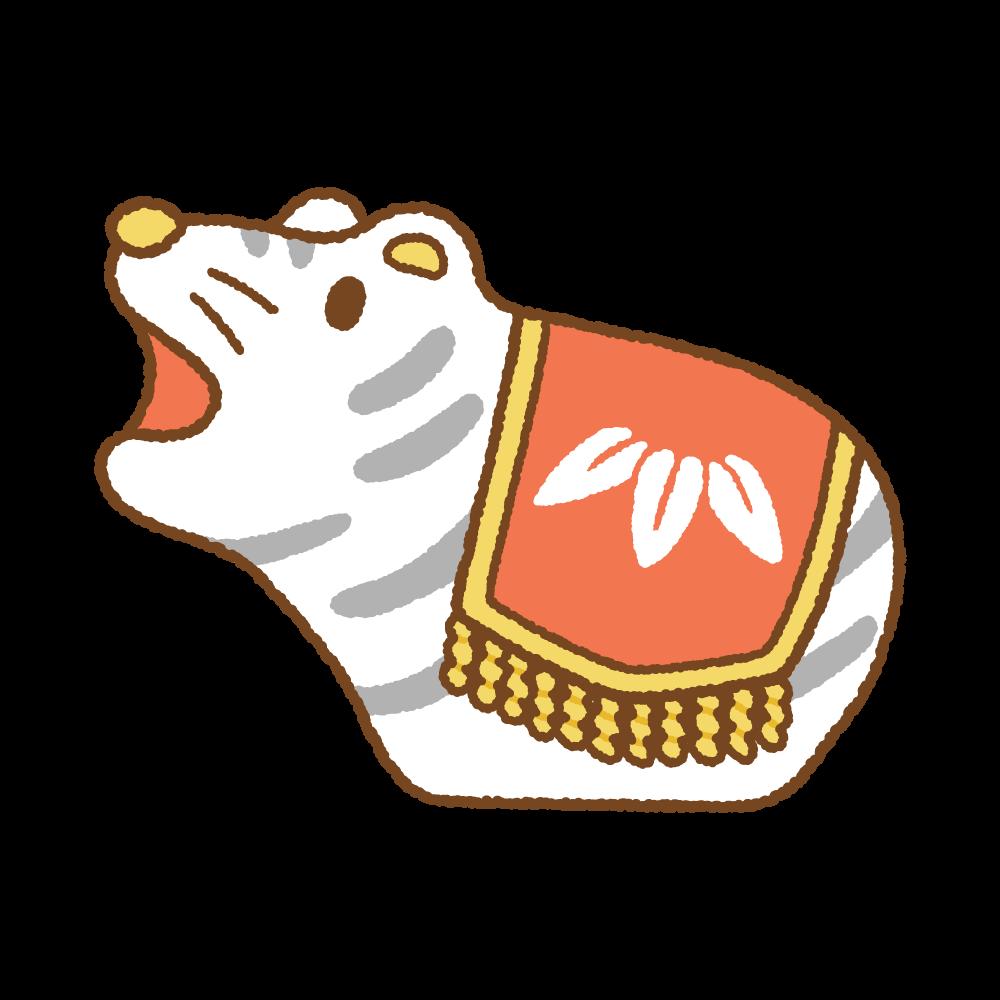 トラの置物のフリーイラスト Clip art of lucky-charm tora