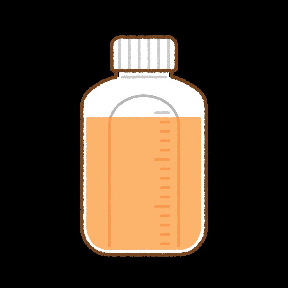 シロップ薬のフリーイラスト Clip art of syrup-medicine