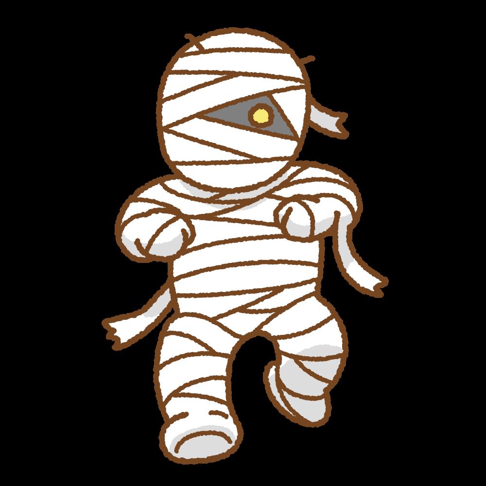 ミイラ男のフリーイラスト Clip art of mummy-man