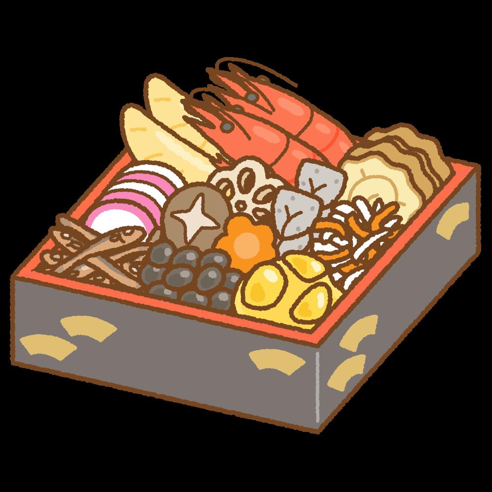 おせちのフリーイラスト Clip art of osechi