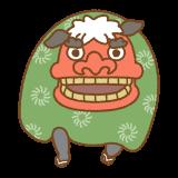 獅子舞のフリーイラスト Clip art of shishimai