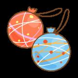 水ヨーヨーのフリーイラスト Clip art of water-balloon-yo-yo